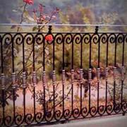 Кованое ограждение, кованые перила, кованые заборы, кованые ворота, кованые решетки. фото
