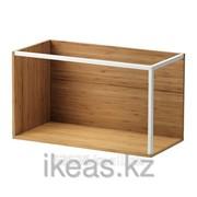 Модуль для хранения, бамбук, белый ИКЕА фото