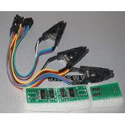 Прищепка для перезаписи микросхемы без выпаивания, + SPI FLASH адаптердля программаторов TL866A/CS фото