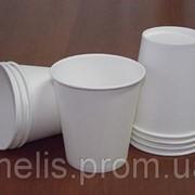 Маленькие одноразовые бумажные стаканчики 110 мл под чай кофе чистые со склада фото
