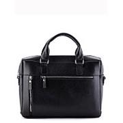Чёрная мужская сумка SLavia фото