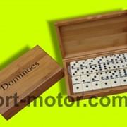 Домино бамбуковый футляр фото