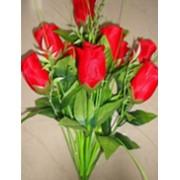 Цветок искусственный 12 бутонов роз (весенних) фото