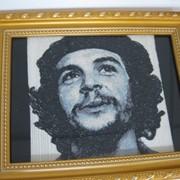 Машинная вышивка картин портретов - фотостежок фото