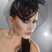 Леопардовая шляпка с вуалью фото