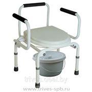 Кресло-туалет с опускающимися подлокотниками фото
