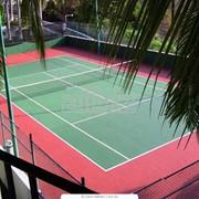 Покрытие теннисных кортов фото