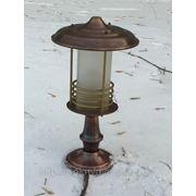 Ландшафтный светильник из меди фото