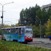 Реклама на трамвая фото
