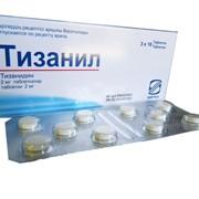 Таблетки Тизанил 2мг. Миорелаксанты фото