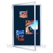 Доска — витрина 60*90 синяя, ткань фото
