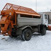 Пескоразбрасывающее оборудование (пескоразбрасыватель) на МАЗ-5516 (в кузов) фото