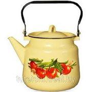 Чайник эмалированный 3,5л. 1с26с с рисунком Северсталь Эмаль фото