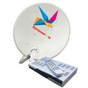 Установка спутникового телевидения Континент-ТВ HD фото