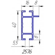 Алюминиевый профиль анодированный 2576 для производства мебели фото
