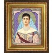 Икона ручной работы Святая Александра вышитая бисером фото
