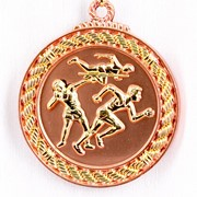 Медаль рельефная Легкая Атлетика бронза фото