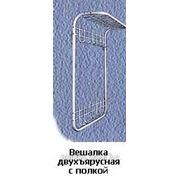 Вешалка двухъярусная с полкой арт. 0212 фото