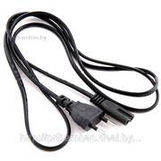 Сетевой шнур (кабель питания) 2-х контактный (2-pin) для зарядных ноутбуков, фотоаппаратов, видеокамер фото