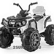 Детский квадроцикл Grizzly ATV White 12V с пультом управления 2.4G BDM0906 белый фото