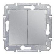 Переключатель 2-кл 10А/250В алюминий Sedna фото