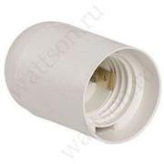 Электропатрон IEK Патрон белый пластик Е27 подвесной фото