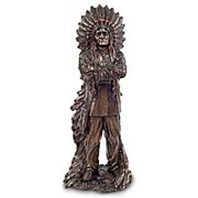 Скульптура Индейский Вождь 11х30х10,5см. арт.WS-443 Veronese фото