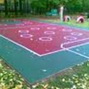 Ремонт уличных спортивных площадок фото