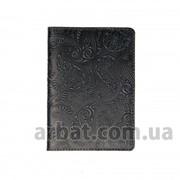 Обложка для паспорта Вuta темно-серый Кожа фото