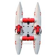 Надувной катамаран Малыш-2 (с цельнонадувной рамой) фото