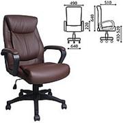 """Кресло для руководителя Brabix """"Enter EX-511"""", экокожа, коричневое фото"""