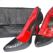 Женские туфли из кожи питона фото