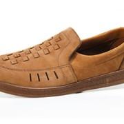 Туфли мужские из натуральной кожи-нубук фото