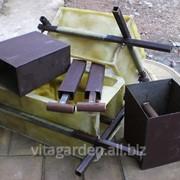 Форма для изготовления заборных блоков 300*300*200 мм. фото