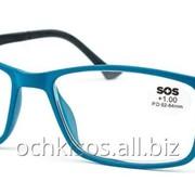 Очки для чтения SOS унисекс модель P 15159 Mat Blue- Black фото