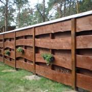 Забор деревянный 1011 фото