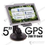 "GPS-навигатор с 5"" LCD сенсорным экраном с FM радио фото"