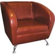 Кресло СИЛУЭТ C -01 для офиса и зон ожидания, диван SILUET C -01 одноместный в искусстенной коже фото