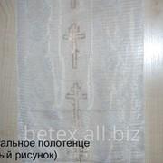 Ритуальное полотенце (белое) фото