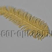 Лист пальмы в золоте 28/45 см 3493 фото