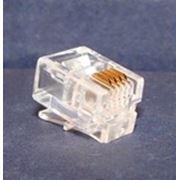 Коннектор джек 6Р4С (для телефонной линии) фото