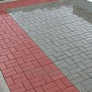Плитка тротуарная Кирпичик (серый, красный) 200х100х60 мм фото