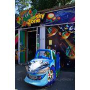 Детская качалка «BLUE CAR» фото