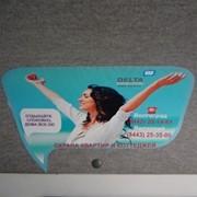 Реклама в салоне маршрутных такси. Реклама на бумажных и ламинированных стикерах. фото