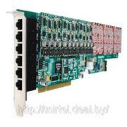 OpenVox AE2410P VOIP плата, 24 портовая аналоговая PCI + модуль эхоподавления фото
