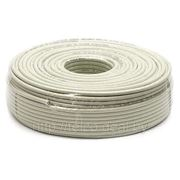 RG 6 коаксиальный кабель CCS, Белый цвет, 1-100M фото