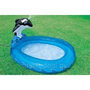 Детский бассейн-кит с фонтаном intex 57436. фото