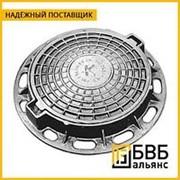 Люк чугунный ГТС ВЧШГ 850x850x110 мм ГОСТ 3634-99 тип Т, крышка 686 мм, 132 кг, нагрузка 25т фото