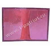 Обложка на Пенсионное удостоверение, бордовая фото