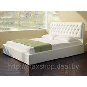 Кровать Casa (180х200) белая, экокожа фото